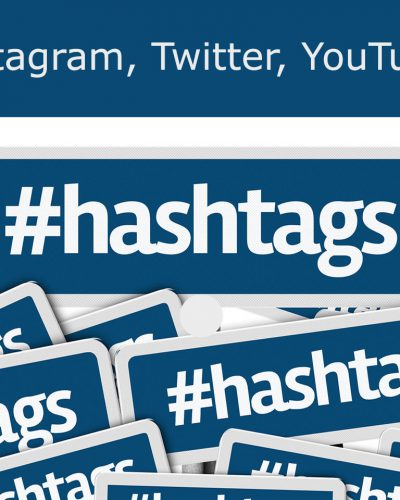 hashtag w social media